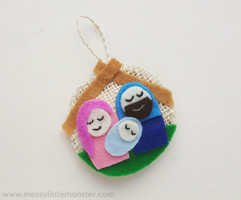 Nativity ornament. Christmas crafts for kids