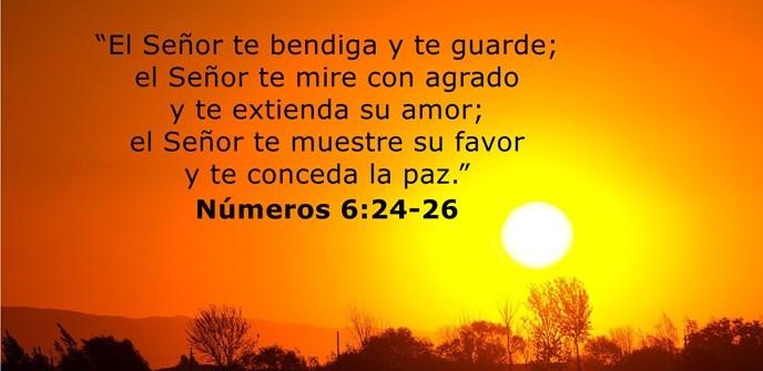 """""""El Señor te bendiga y te guarde; el Señor te mire con agrado y te extienda su amor; el Señor te muestre su favor y te conceda la paz."""""""