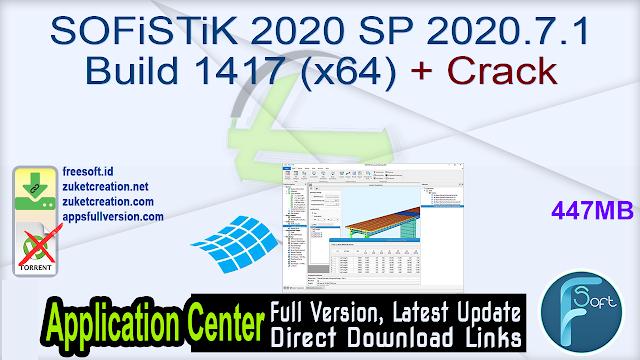 SOFiSTiK 2020 SP 2020.7.1 Build 1417 (x64) + Crack