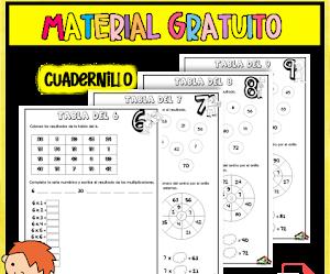 CUADERNILLO DE LAS TABLAS DE MULTIPLICAR