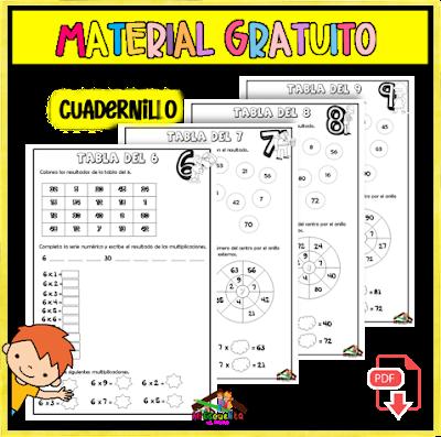 TABLAS DE MULTIPLICAR CUADERNILLO PDF GRATIS