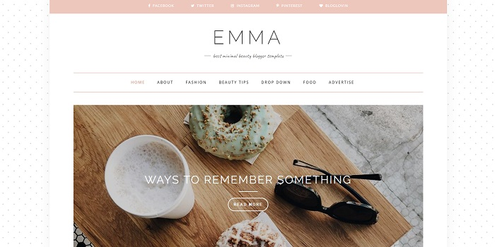 plantilla bonita minimalista moda mujeres emma beauty templates