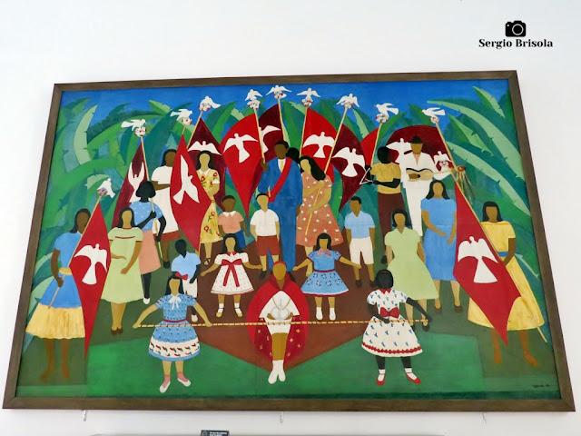 Close-up da Obra Festa do Divino em Parati - Palácio dos Bandeirantes - São Paulo
