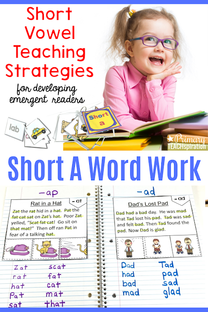 Here's how to teach emergent readers to read and spell with Short A Word Work!