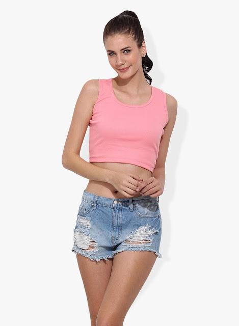 Women Pink Cotton Top