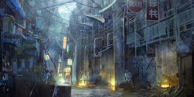 Ilustraciones con un panorama apocalíptico.
