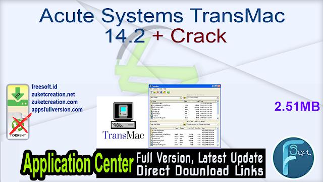 Acute Systems TransMac 14.2 + Crack