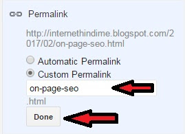 On Page SEO Permalink