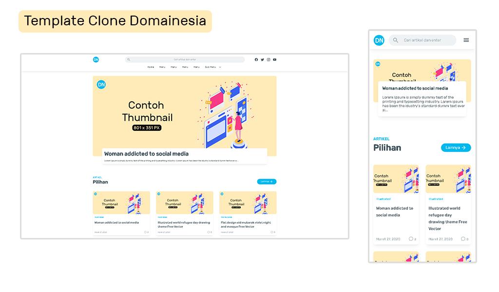 Domainesia Premium Blogger Template Download