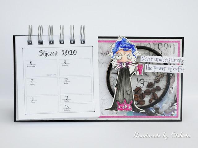 Kalendarz na biurko – inspiracja dla Białe Kruczki