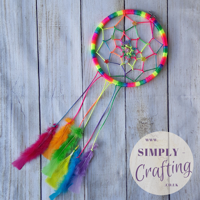 Make Your Own Rainbow Dreamcatcher - DIY Craft Project