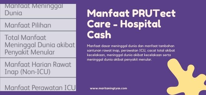 manfaat PRUTect Care - Hospital Cash