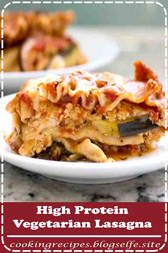4.8 ★★★★★ | The high protein vegetarian lasagna every omnivore will love. This healthy, no-fail, crock pot recipe is fantastic for an easy weeknight meal! #vegetarian #recipes #highprotein #veggies