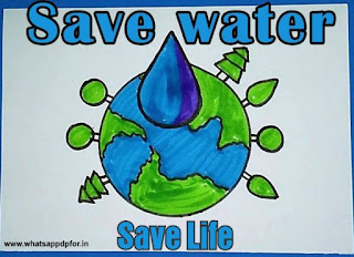 save water poster drawing