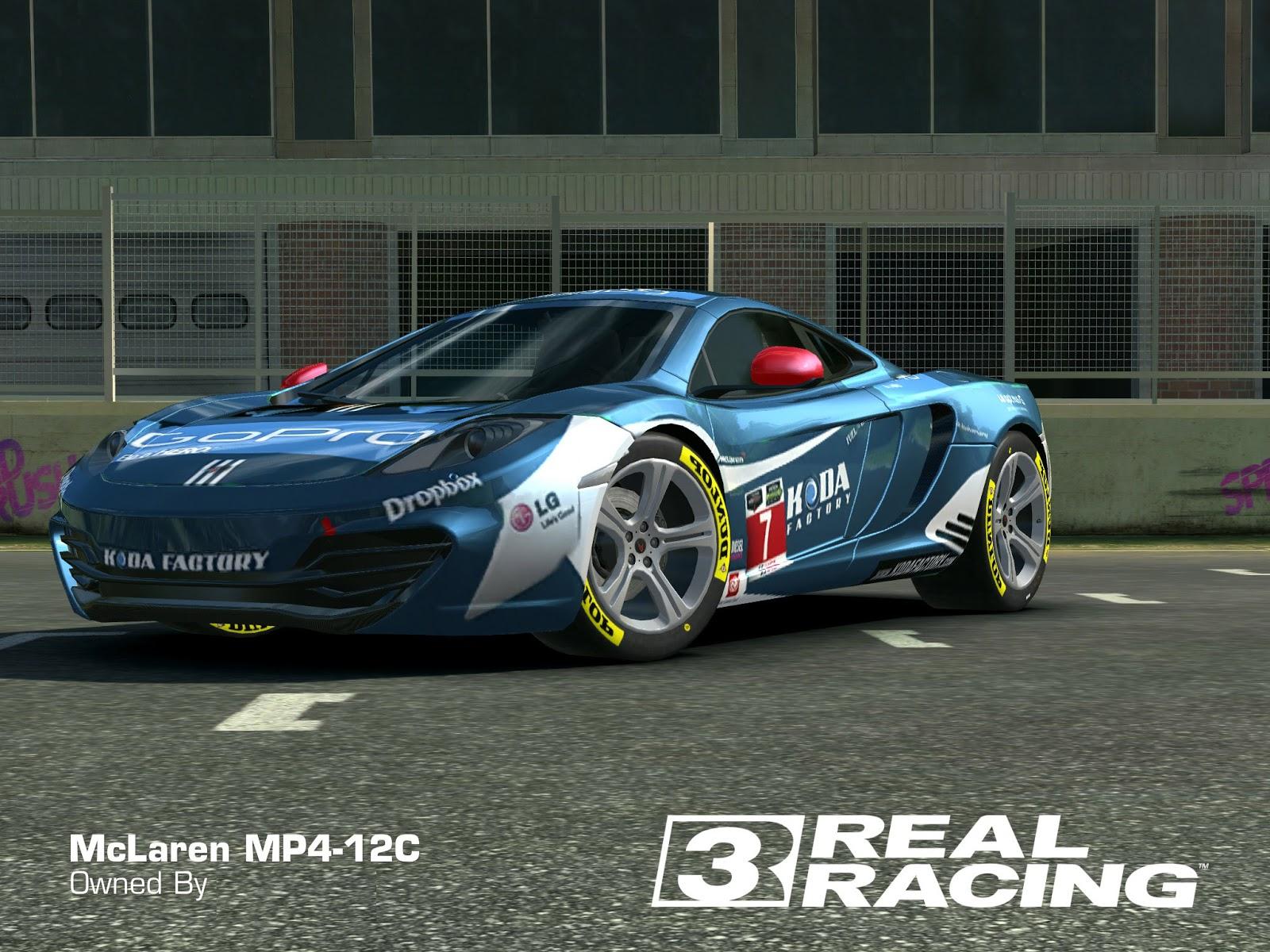 REAL RACING 3 SKIN: 2013_mclaren_mp412c-Mclaren MP412C Go Pro Koda by Real Racing 3 skins designs