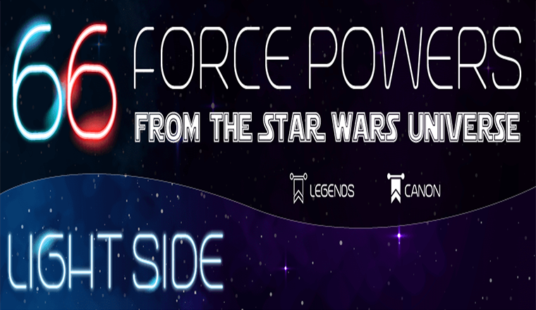 66 Force Powers From the Star Wars Universe #infographic