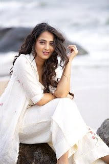 Anushka Shetty New Photos in White Dress