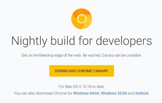 google chrome canary apk
