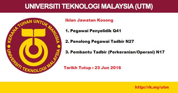 Jawatan Kosong di Pejabat Timbalan Naib Canselor (Akademik & Antarabangsa) UTM