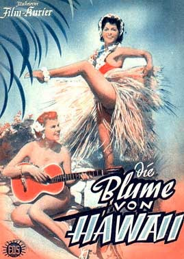"Poster for the movie ""Die Blume von Hawaii""."