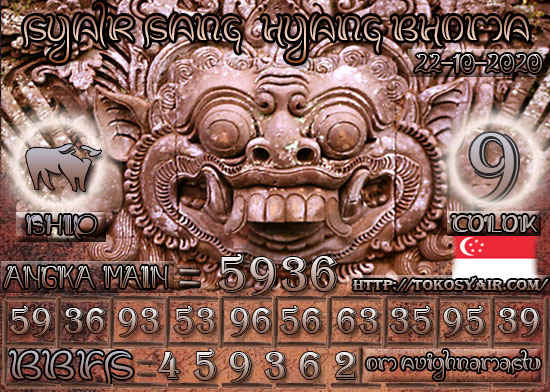 Kode syair Singapore Kamis 22 Oktober 2020 123