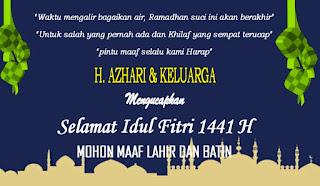 Kepala Dikes Kota Bima Mengucapkan Selama Hari Raya Idul Fitri 1441 Hijriyah