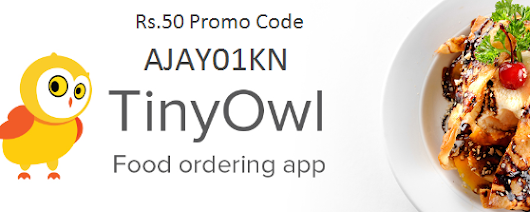 TinyOwl Rs.50 Free Meal Promo Code