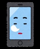 スマートフォンのキャラクター(居眠り)