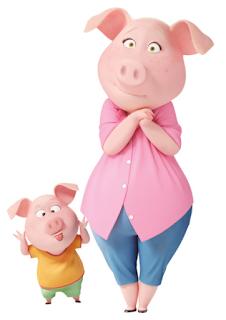 Rosita, truie mère de famille dans Tous en scène cochon cochonne