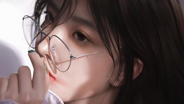 Beautiful CGI Girl backgroud