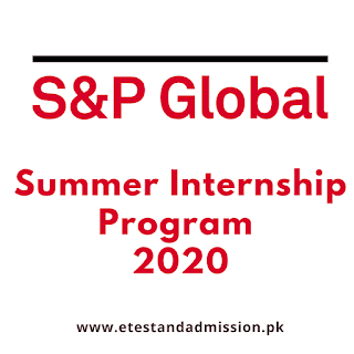 S&P Global Pakistan Summer Internship 2020