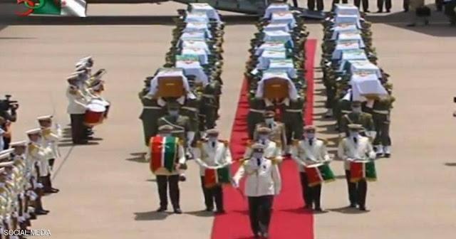 الجزائر: استقبال رسمي مهيب لرفات قادة المقاومة الشعبية العائدين من فرنسا