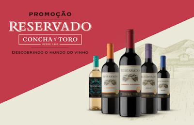 promoção vinho reservado concha y toro