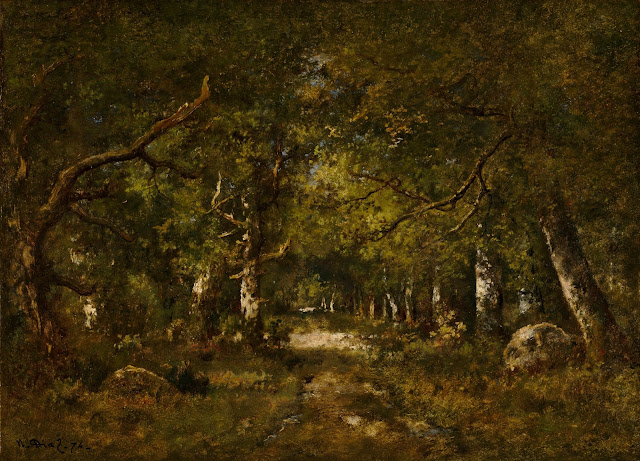 Narcisse Diaz de la Peña, Forest Scene, 1874, Courtesy National Gallery of Art, Washington