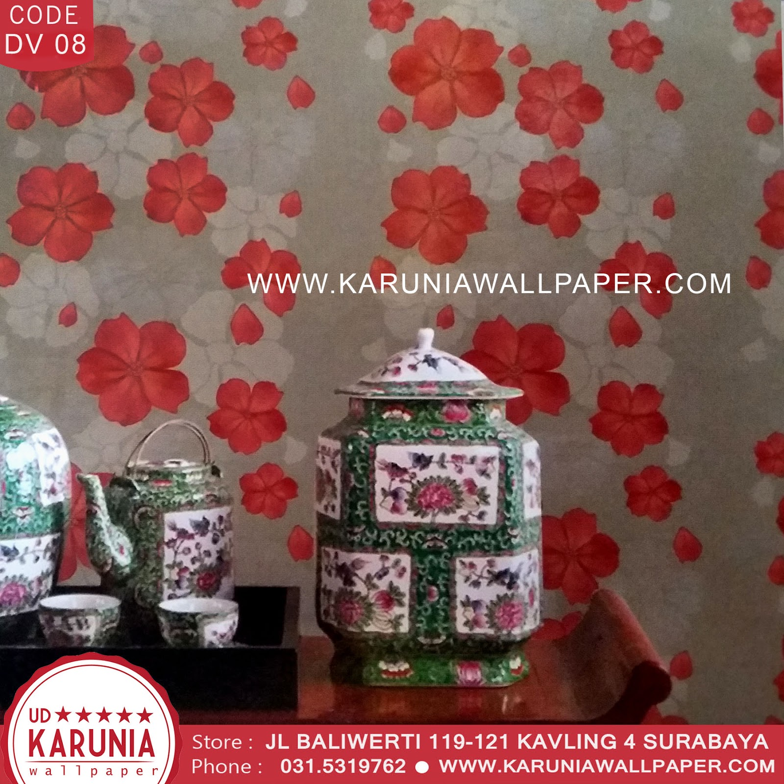 jual wallpaper mawar