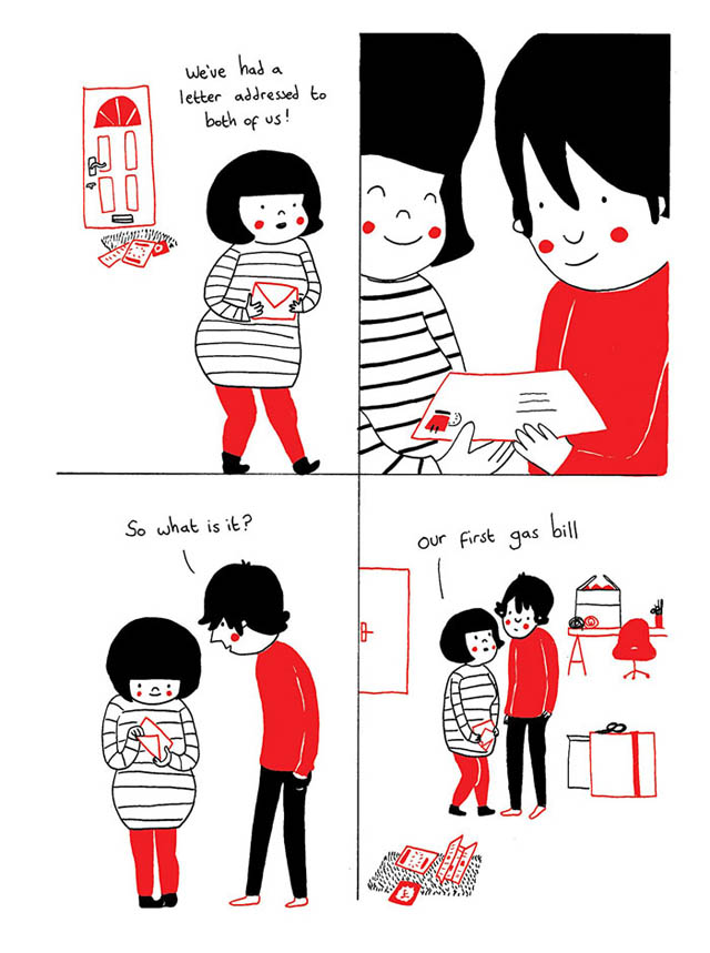Heartwarming Illustrations Show That True Love Is In The Little Everyday Things - Love is about the little things
