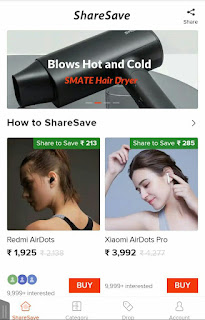(Mi offer) -Get MI branded products free on sharesave app by Xiaomi.