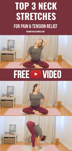 So much pain and tension resides in the neck. To give yourself some relief, doesn't take much time or energy. Take 5 minutes to try these 3 stretches. They can be done anywhere, the first 2 can even be done at your desk.