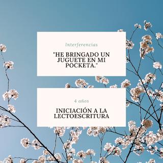 interferencias bilingüe español inglés inicio lectoescritura