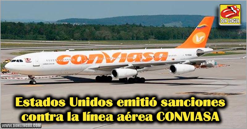 Estados Unidos emitió sanciones contra la línea aérea CONVIASA