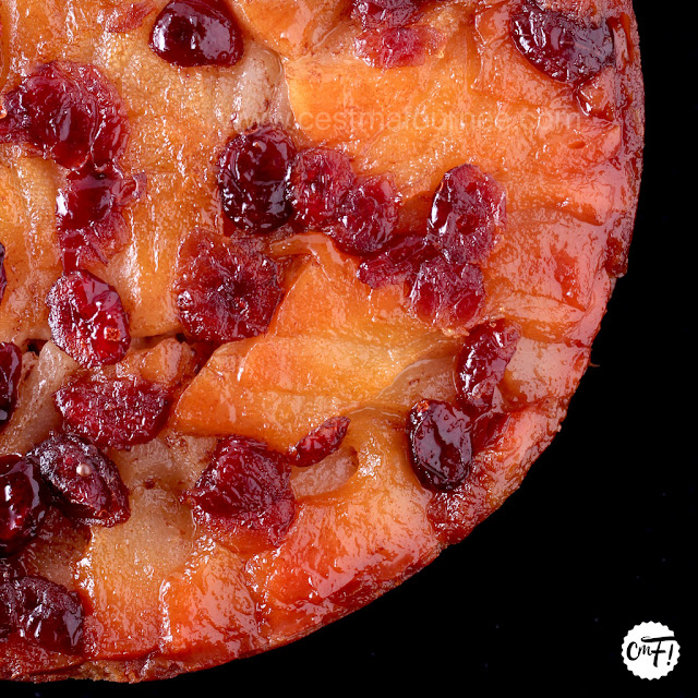 PEAR CRANBERRY UPSIDE DOWN CAKE