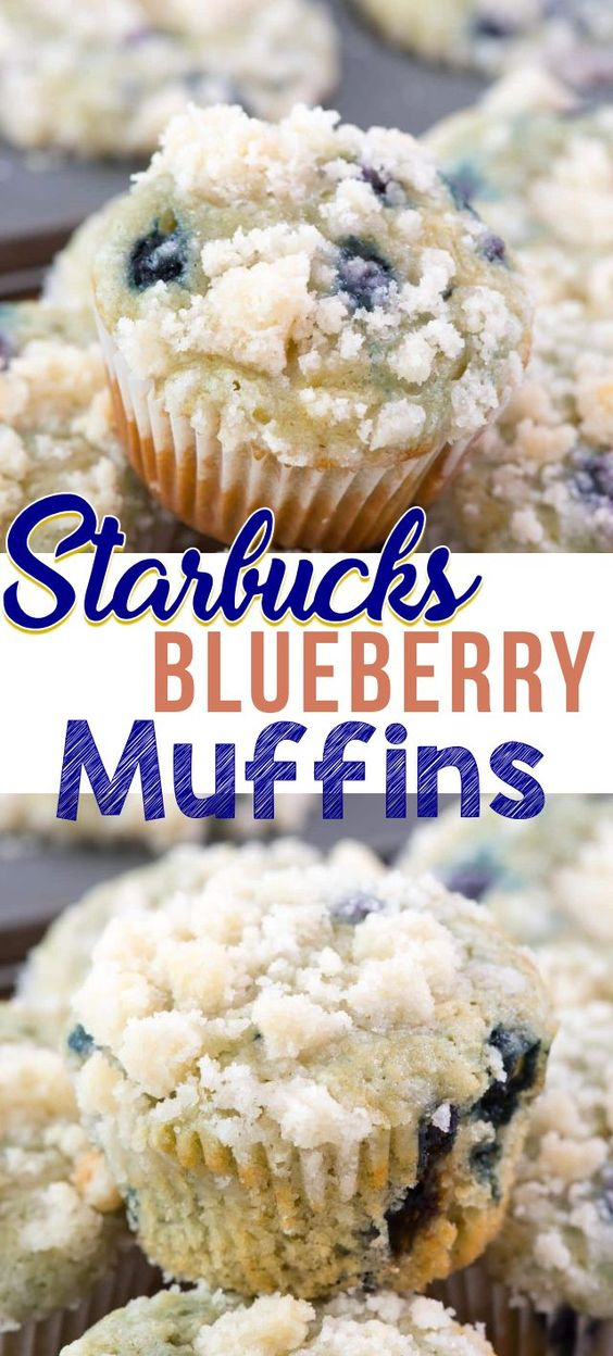 STARBUCKS COPYCAT BLUEBERRY MUFFINS