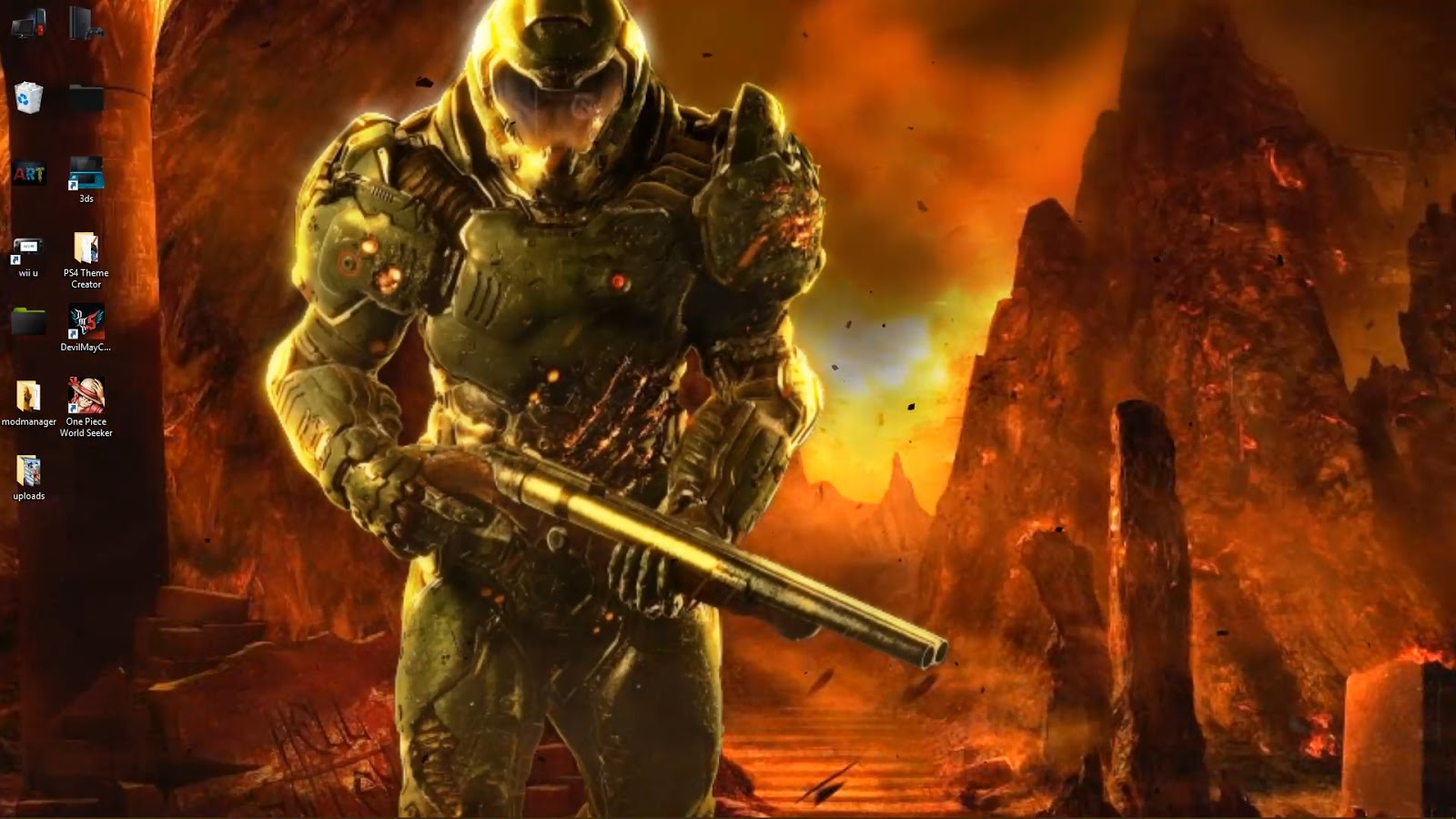 Doom Guy live wallpaper with Sound free download - wallpaper