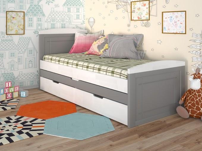 Кровать Компакт с ящиками  80х190 (сосна) ТМ АрборДрев