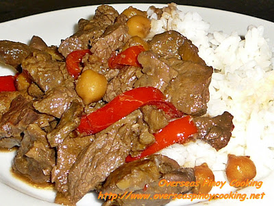 Beef Igado with Rice