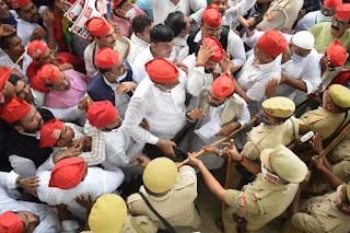 सरकार तानाशाही कर लोकतंत्र का गला घोंट रही:लाल बहादुर  | #NayaSaberaNetwork