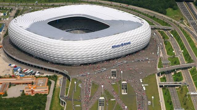 Complexo do estádio Allianz Arena em Munique
