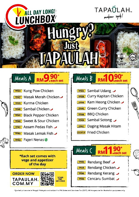 TAPAULAH Food Delivery LunchBox Set Meal