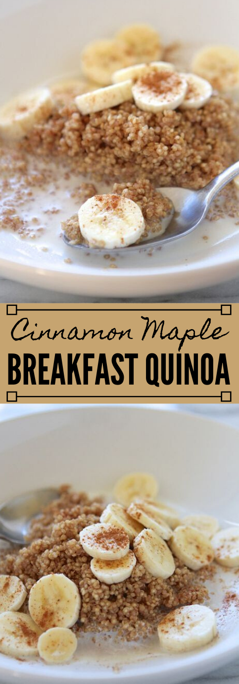 MICROWAVE CINNAMON MAPLE BREAKFAST QUINOA #healthy #diet #cinnamon #breakfast #paleo