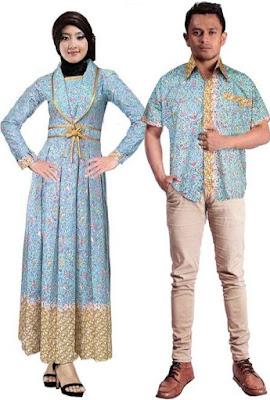 Model Gamis Batik Pesta couple